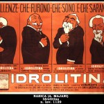 L'Idrolitina e le due bustine Berlusconi/Monti