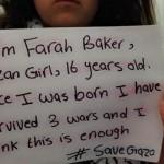 Farah Baker: Ho 16 anni e vivo a Gaza. Potrei morire questa notte