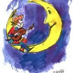 Una canzone di Bécaud e i disegni di Luzzati per salutare Don Catti