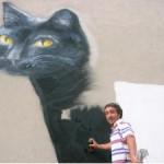 Ricordo dell'artista di strada falconarese Mattia Chiappa (Mat) morto nel 2008.