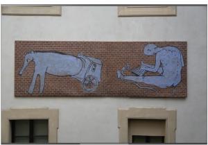 Il murale staccato ed esposto a Palazzo Pepoli (foto: Dailybest - © 2016 DAILYBEST by BetterDays srl)