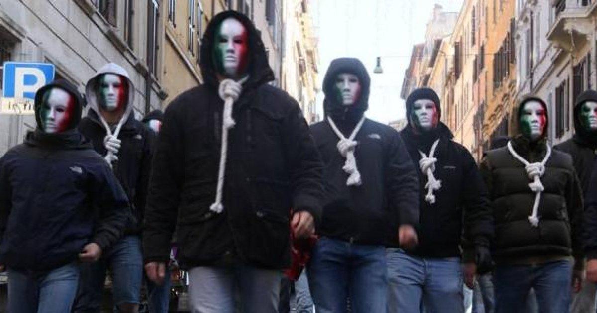 La violenza di Casa Pound a Roma