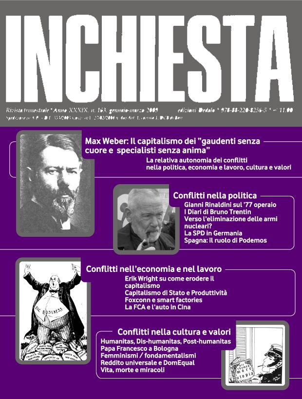 """E' uscito il numero 198 di """"Inchiesta"""" ottobre-dicembre 2017"""