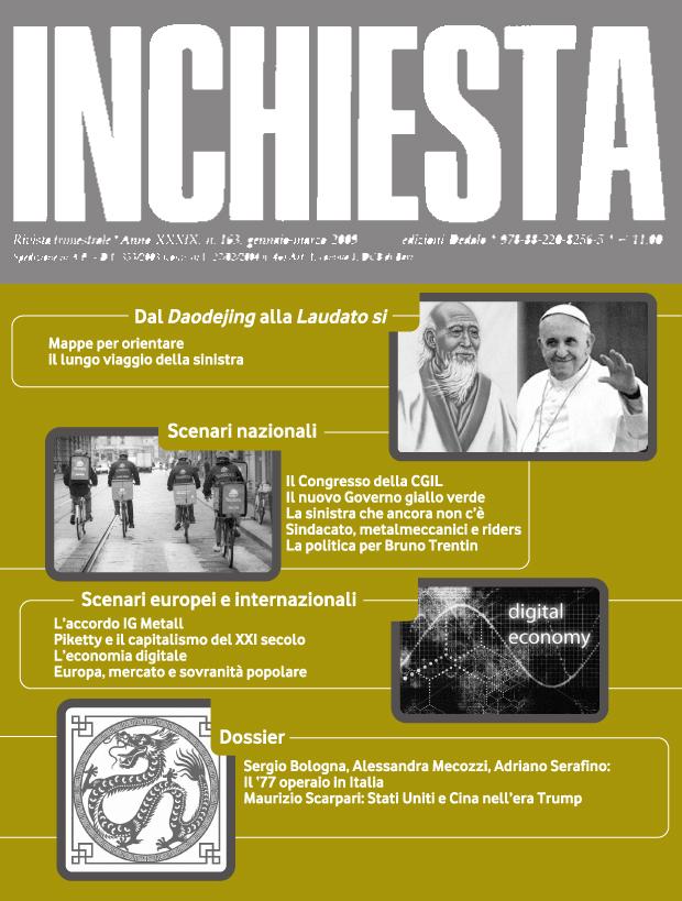 """E' uscito il numero 200 di """"Inchiesta"""" a stampa aprile-giugno 2018"""