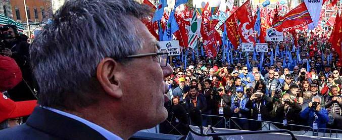 Maurizio Landini: Discorso dal palco di piazza  S. Giovanni a Roma