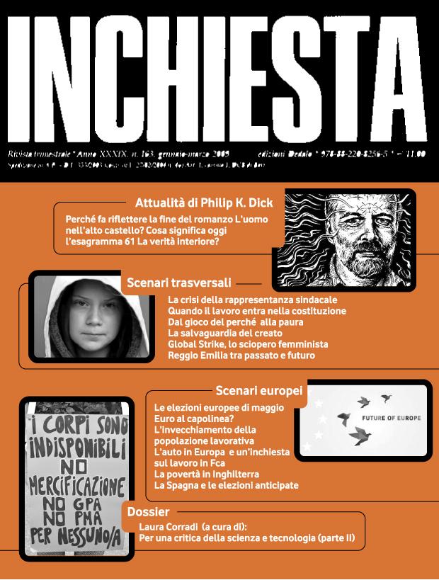 """E' uscito il numero 203 di """"Inchiesta"""" a stampa gennaio-marzo 2019"""