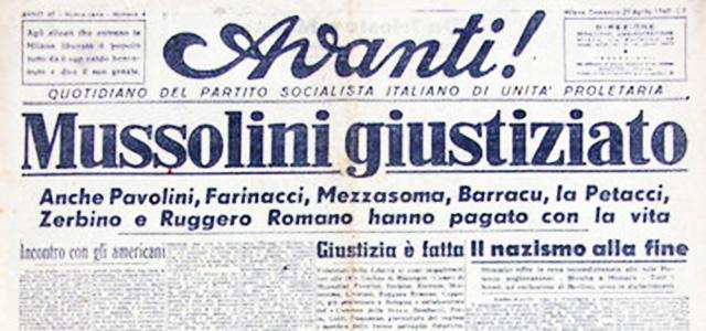 Bruno GIorgini: La fucilazione di Benito Mussolini