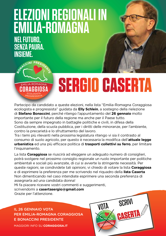 Perchè votare Sergio Caserta alle elezioni in Emilia Romagna