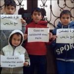 Gaza en solidarité avec Paris e Not in my name