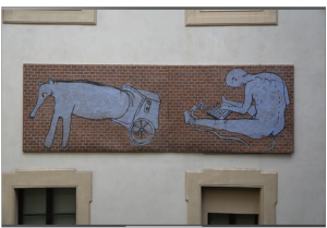 Blu's mural removed and shown at Palazzo Pepoli (photo courtesy of Dailybest - © 2016 DAILYBEST by BetterDays srl)