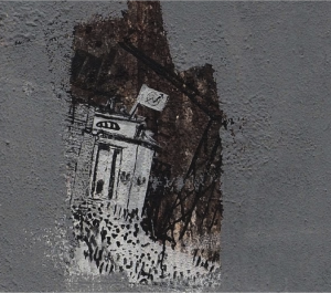 Fragment of mural by Blu, representing the social space  'Atlantide' (detail of image above)