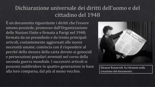 10 dicembre 1948. 70 anni dopo la Dichiarazione universale dei diritti umanì
