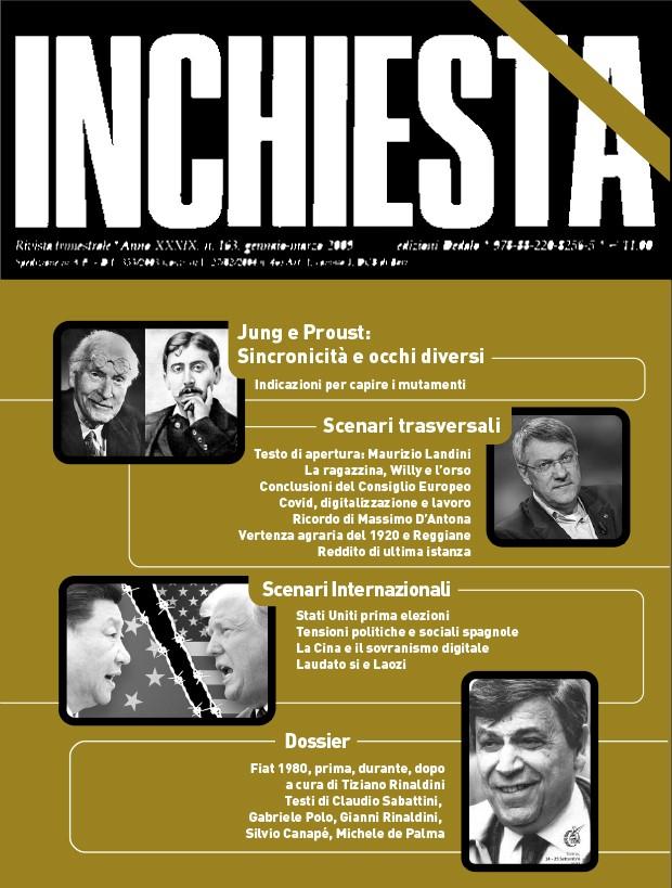 """E' uscito a stampa il numero di """"Inchiesta"""" 209 luglio-settembre 2020"""