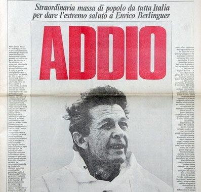 Sergio Caserta: La fine del PCI cominciò con la morte di Enrico Berlinguer